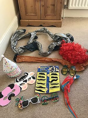 Photo Booth Props Wedding Blow Up Parrot Wig Glasses Novelty Moustache Mask