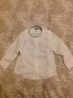 Hugo boss baby white poplin shirt 18 months