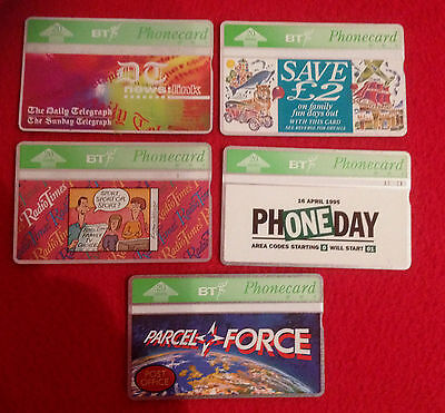 BT Phonecards - job lot of 5 - very collectable