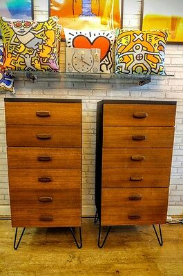 Original G Plan Tallboy chest of drawers Mid Century Vintage Industrial Retro