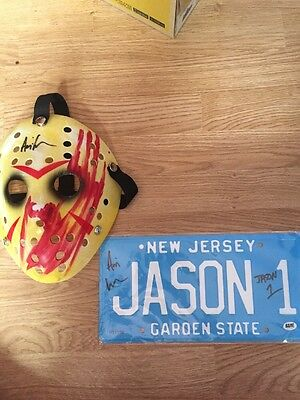 **jason Voorhees Numberpalte Signed By Ari Lehman Bam Box Exclusive With C.o.a**