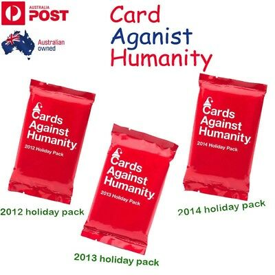 3 x Cards Against Humanity-Booster Expansion 2012 & 2013 & 2014 holiday pack AU