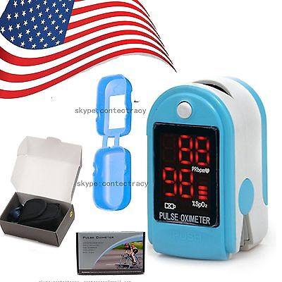 LED Heart Pulse Rate Blood Oxygen Meter Fingertip Monitor Spo2 Finger Oximeter