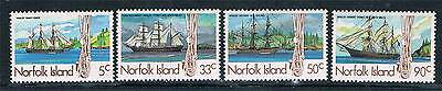 Norfolk Is 1985 Whaling Ships SG 356/9 MNH