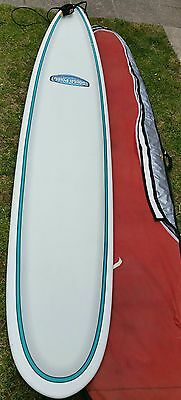 9.2ft SOUTHPOINT LONGBOARD  with 10ft knee Leash & 9 INCH FIN & thick Board bag