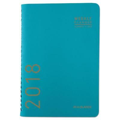 At-A-Glance 70108X42 Contemporary Weekly/monthly Planner, 4 7/8 X 8, Teal, 2018
