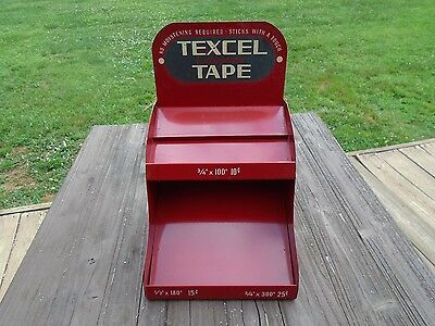 VINTAGE TEXCEL CELLOPHANE TAPE COUNTER  DISPLAY Hardware Store