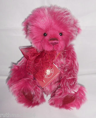 Charlie Bear RASPBEARY / Raspberry TRIFLE ~ by Isabelle Lee QVC Exclusive 2013