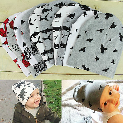 Unisex Newborn Baby Kids Boy Girl Toddler Infant Cotton Soft Cute Hat Cap Beanie