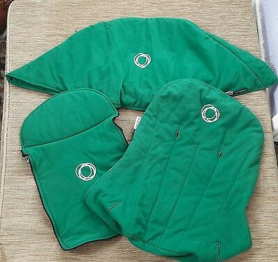BUGABOO cameleon 1- 2 green fleece fabric set.#