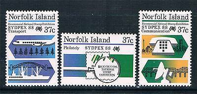 Norfolk Is 1988 Sydpex 88 SG 444/6 MNH