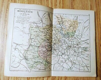 Vintage map of London and Middlesex - Victorian