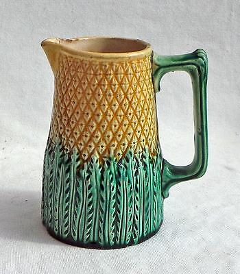 Antique Majolica jug, pitcher pineapple design 5 1/2 inches