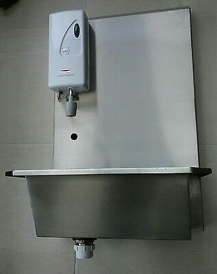 commercial stainless steel hand washing sink