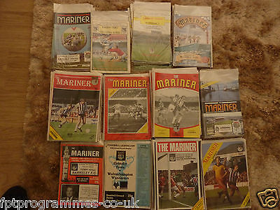 Grimsby Town Home Programmes 1979/80 to 1990/91 (List 2 ) Select from list