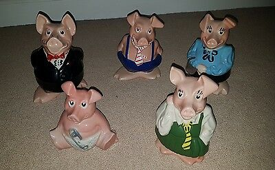 natwest pigs set of 5 piggy banks