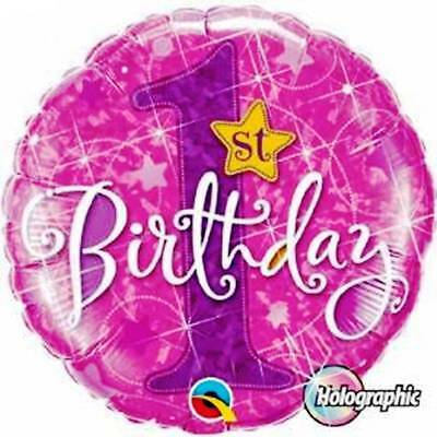 """PINK 1ST BIRTHDAY 18"""" Anagram Foil Balloon Kids Party Supplies Party Decorations"""