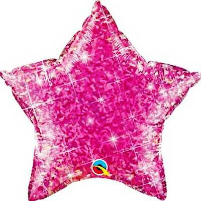 """PINK STAR Holographic 20"""" Anagram Foil Balloon Birthday Party Supplies Decor"""