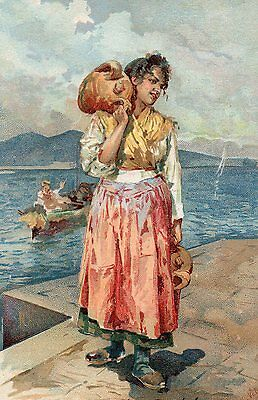 POSTCARD  ITALY  LUCIA   Girl   Water Carrier