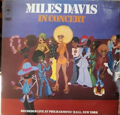 double lp record by Miles Davis, In Concert