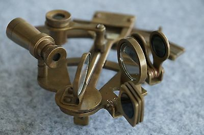 Set Of Two 5'' Solid Brass Sextant Nautical Working Antique Finish Astrolable