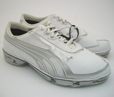 NEW* Puma Amp Cell Fusion SL Golf Shoes White / Silver Size 9 M