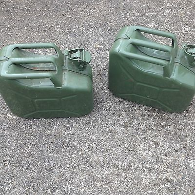 Metal 10l Jerry Cans x2