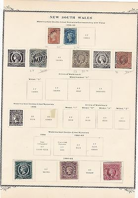 New South Wales Australia Eight Stamps Queen Victoria Era