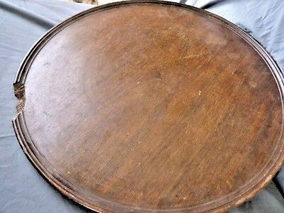 19Th Century   Antique Try Top  Mahogany Tip Up Table Top