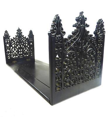 Large Antique Anglo Indian Ceylon Ebony Wood Adjustable Book Stand Ends
