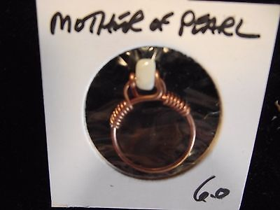 Copper GEMSTONE RING Mother of Pearl sz 6 USED BY ANCIENTS for SPIRITUAL INSIGHT
