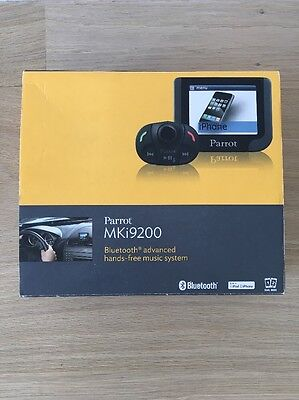 Complete Parrot MKi9200 Bluetooth Hands-Free Car Kit, Boxed, Taken Out Of Mini