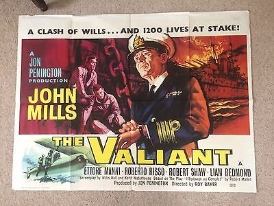 Only The Valiant John Mills Quad Poster