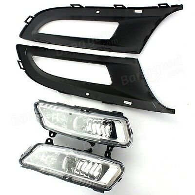 Front Left Right Grill Fog Light Grille Lamps For VW Polo MK8 6R 09-11 SKU196912