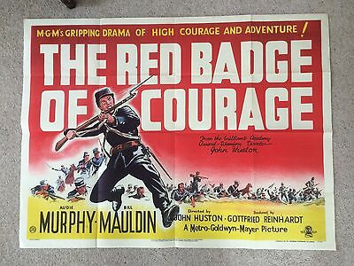 Red Badge Of Courage Quad Poster Audience Murphy