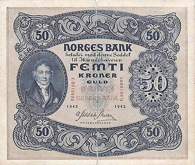 50 Kroner From Norway 1942