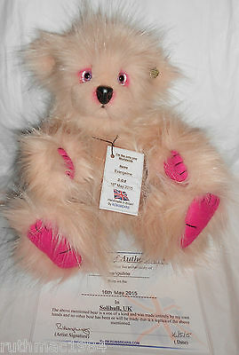 ROBSBEARS EVANGELINE ~ OOAK Artist Bear ~ Hand Made in the UK ~Certificate & Tag