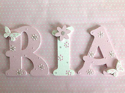 Hand Painted 9cm Wooden Letter Wall Door Children Birthday Gift Boy Girl Present