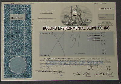 Rollins Environmental Services, Inc. 1986 200 Shares