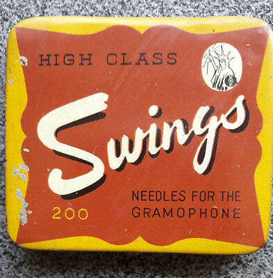 SWINGS Japanese gramophone needle tin