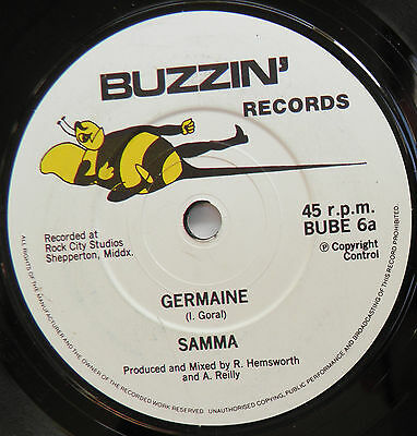 "Samma-Germaine-UK Vinyl 7""-DIY Private Press Synthpop Synth Wave-1986-HEAR"