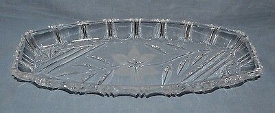 Gorgeous Cut Crystal Candy/nut Dish Bottom Has Beautiful Fosted Flower