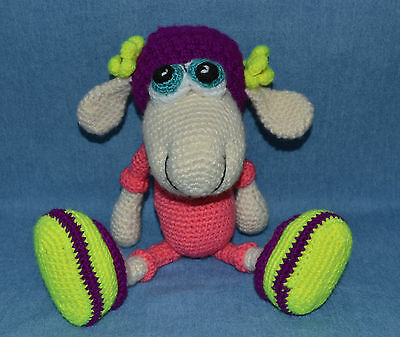 """Beautiful Handmade Crocheted Toy Called """"little Sheep In Pajamas"""" Safe & Washabl"""