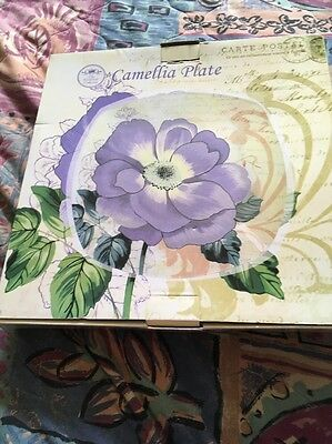 New Boxed Camellia Plate By The Leonardo Collection