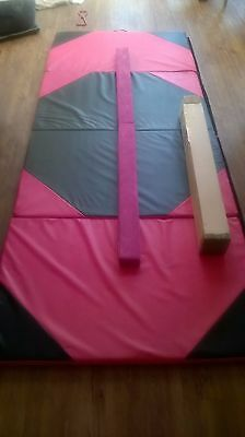 Suede Folding Balance Beam Gymnastics Gym Training Equipment and Mat