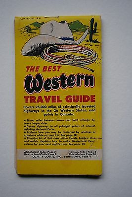 1956 The Best Western Travel Guide Motel Advertisment Booklet Western USA