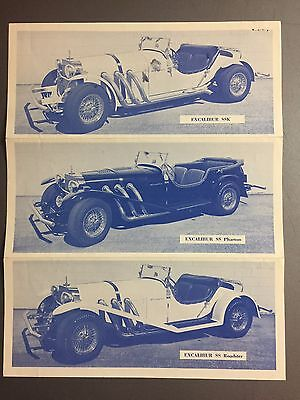 1966 Excalibur SS Showroom Advertising Folder Brochure RARE!! Awesome L@@K