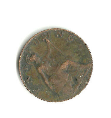 1909 KING EDWARD VII FARTHING ¼d