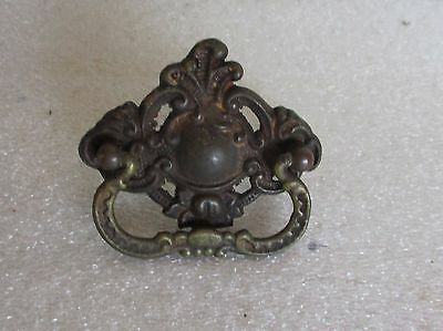 Ornate Antique Singer Sewing Machine Co. Brass Drawer Pull