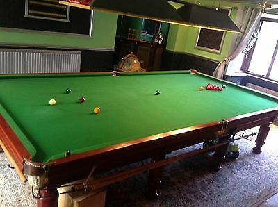 Full size  solid mahogany, slate bed snooker table 12 x 6 ft including extras